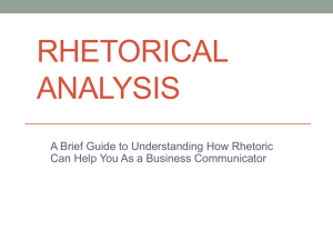 A Brief Guide to Rhetorical Analysis