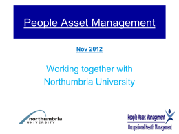 Overview of People Asset Management