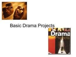 Basic Drama ProjectsChp1