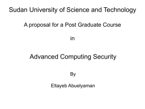 Advanced Computing Security