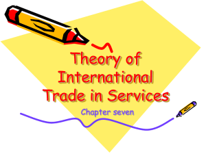 Theory of International Trade in Services