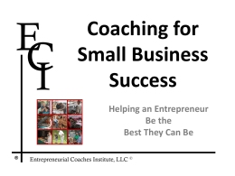 Coaching for Small Business Success