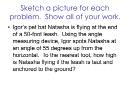 Sketch a picture for each problem, if appropriate. Solve each