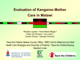 Evaluation of Kangaroo Mother Care in Malawi