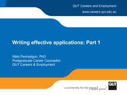 Writing Effective Applications (Part 1)