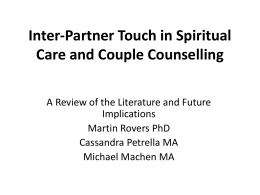Inter-Partner Touch in Couple Counselling