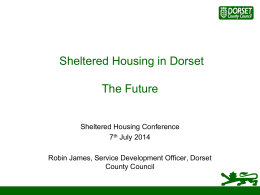 Sheltered Housing in Dorset - the future