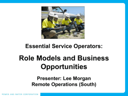 Essential Services Operators