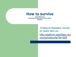 a natural disaster course on web 2.0erc.eu