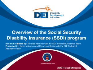 Overview of Social Security Disability Insurance (SSDI)