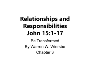 Be Transformed, Chapter 3 - Deaf Liberty Baptist Church