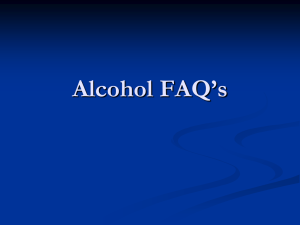 Alcohol FAQs PowerPoint