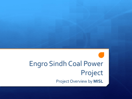 Engro Sindh Coal Power Project