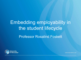 Embedding employability in the student life-cycle
