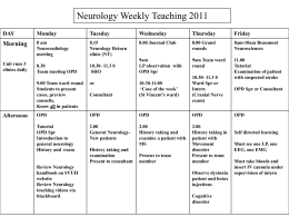 Weekly Teaching Timetable 2011