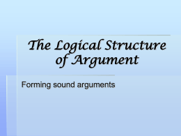 The Logical Structure of Argument