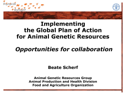 Global Plan of Action for Animal Genetic Resources