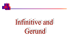Infinitive and Gerund