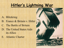 Hitler`s Lightning War