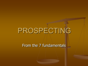 PROSPECTING & APPONITMENT SETTING