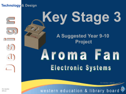 to design the top for the Aroma Fan container. Electronics