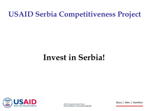 USAID Serbia Competitiveness Project