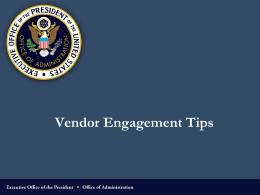 Vendor Engagement Tips - The Contracting Education Academy at