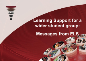 Workshop F Learning Support