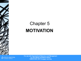 Motivation - Cengage Learning