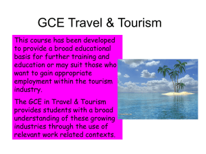 GCE Travel & Tourism