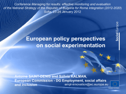 ESF and Social innovation and social experimentation