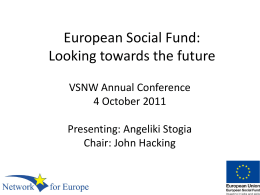 European Social Fund - Voluntary Sector North West