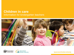 Children in care: Information for kindergarten teachers