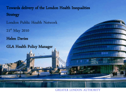 Title of slideshow here - London Public Health Network
