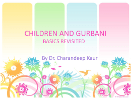 children and gurbani