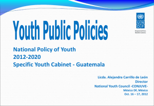 National Youth Policy 2012-2020