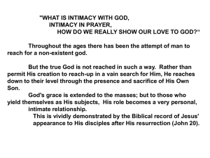 Harry Cobb – Intimacy with God. Powerpoint Lesson