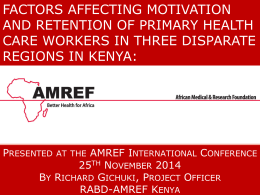 TUAB025 - Amref Health Africa International Conference