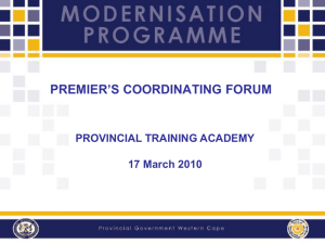 PCF Provincial Training Academy