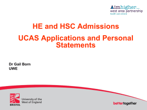 UCAS Application Form and a good supporting