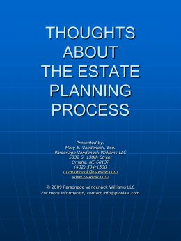 skills for the estate planning process