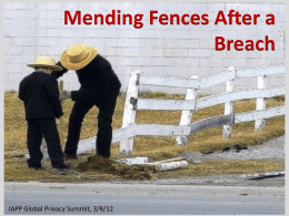 Mending Fences After a Breach - Centre for Information Policy