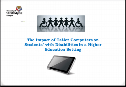 The Impact of Tablet Computers on Students
