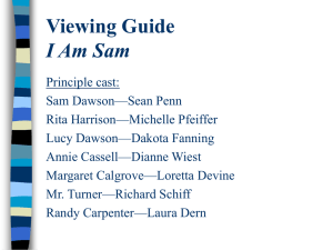I am Sam Viewing Guide
