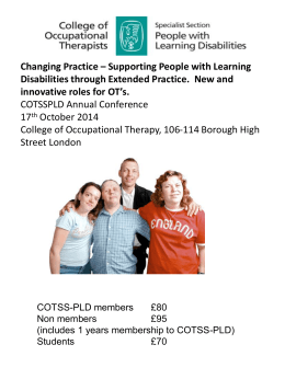 COTSSPLD Conference Application form 2014