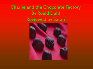 Charlie and the Chocolate Factory Power Point Presentation