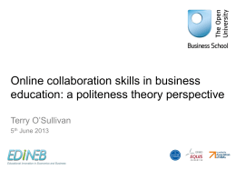 Online collaboration skills in business education: a