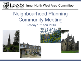 Neighbourhood Plan - Slides