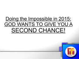 Doing the Impossible in 2015