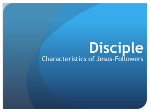 Becoming Disciples of Jesus 2
